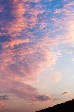 cloudscape: cloudscape of sunset