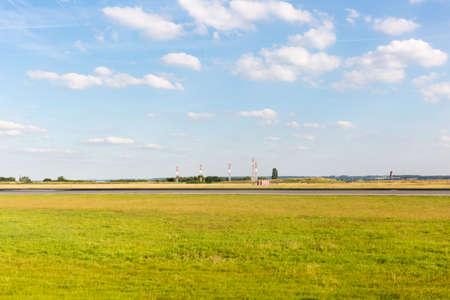 cloudscape: cloudscape over airport horizon