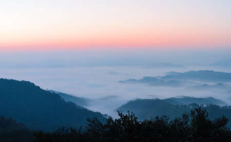 panoramas: sunrise and sea of clouds