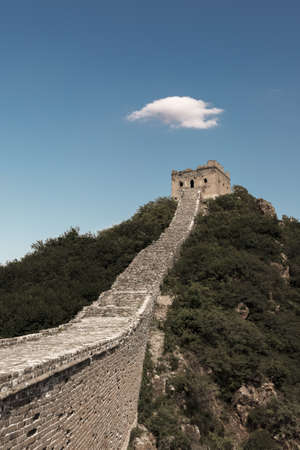 Simatai ancient great wall located in Miyun, Beijing.