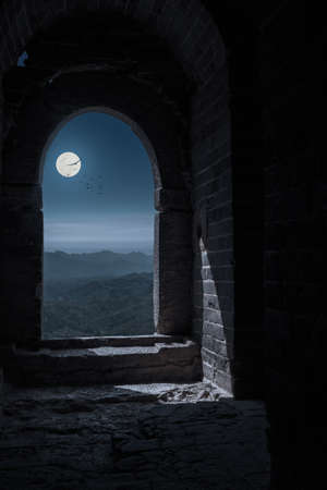 Gateway of ancient Great wall located in Miyun, Beijing, China