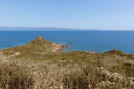 Scenic of Ajaccio,Corsica,France. Isles Sanguinaires, small archipelago near Ajaccio.