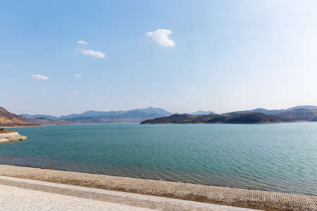Nature view of Yantai Reservoir which is the important water resource of Yantai city. Shandong province, China.