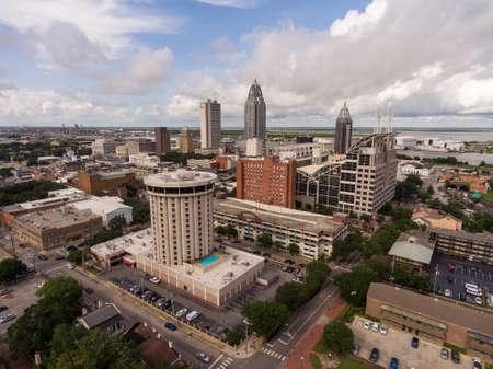 Downtown Mobile, Alabama Aerial view