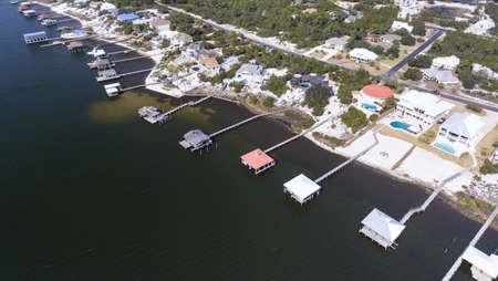 Aerial view of Ono Island in Orange Beach, Alabama Stock Photo