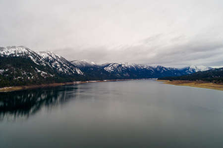 Lake Cle Elum, Washington state in December of 2020 Banque d'images