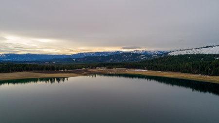 Lake Cle Elum, Washington state in December of 2020