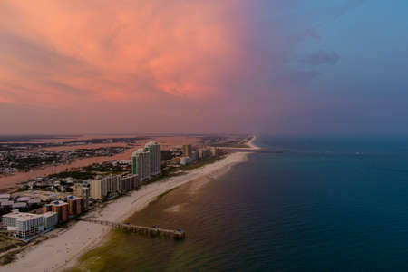 Orange Beach, Alabama at sunset in June of 2021