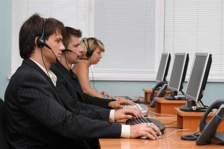 Customer service team photo