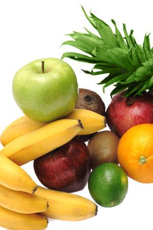 Colorful fresh fruits isolated on white background Stock Photo - 4851252