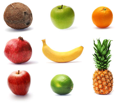 Collection of fresh ripe fruit, finely retouched and in high-resolution photo