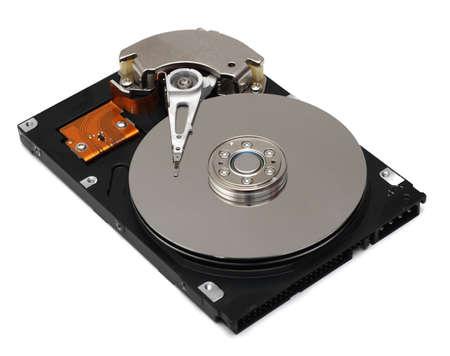 Hard drive isolated on white background photo