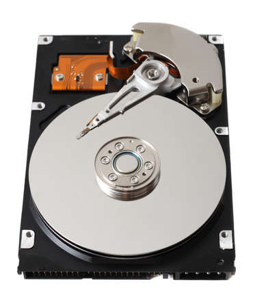 Hard drive isolated on white background photo