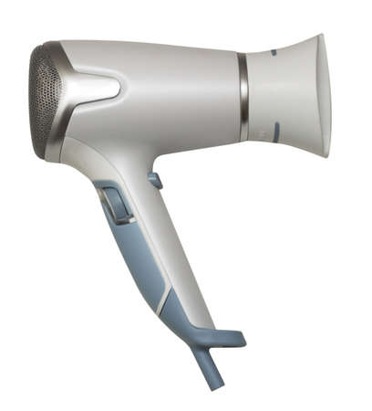 Hair drier isolated on white background photo