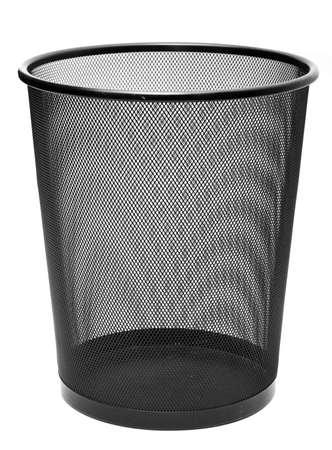 trash basket: Papelera aisladas sobre fondo blanco Foto de archivo
