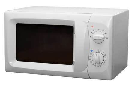 electric material: Modern microwave stove isolated on white background