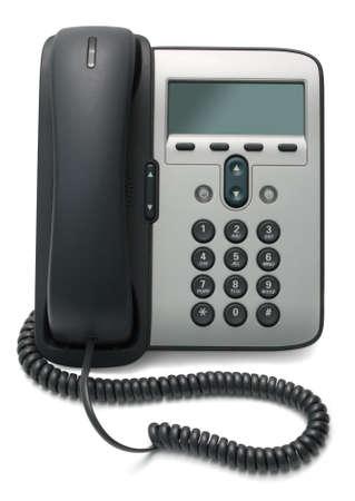 ip: IP Phone isolated on white background