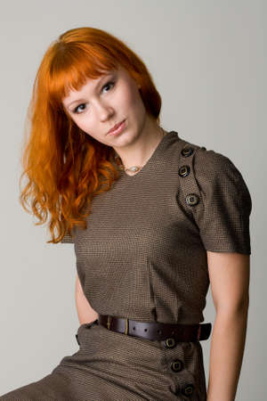 Beautiful redhead studio photo Stock Photo - 4832393