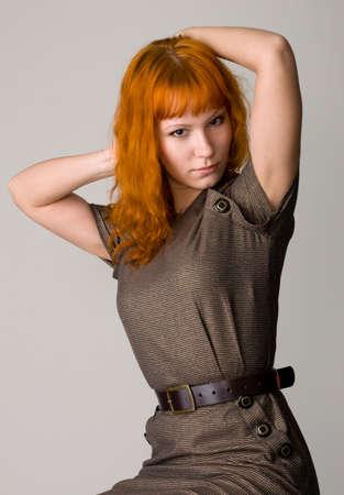 Beautiful redhead studio photo Stock Photo - 4832394