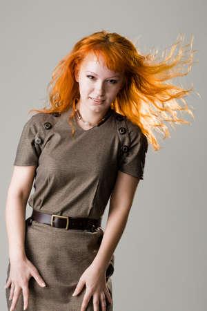 Beautiful redhead studio photo Stock Photo - 4832389