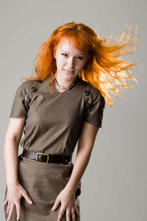 Beautiful redhead studio photo Stock Photo - 4832389