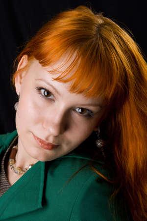 Beautiful redhead studio photo Stock Photo - 4832391