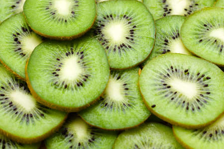Detailed pattern made of kiwi slices photo