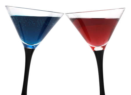 Cocktail glasses isoalted on white background  photo