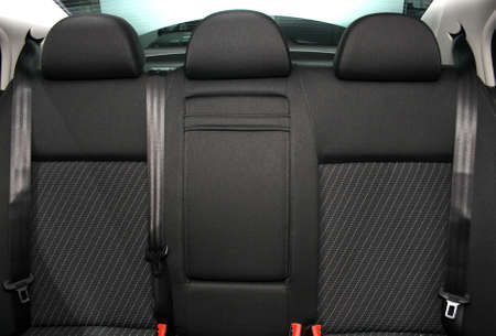car seat: Back passenger seats in a modern car