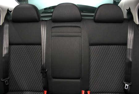 Back passenger seats in a modern car