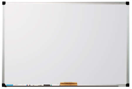 Modern whiteboard isolated on white background, with space for text Stock Photo