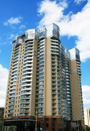 Tall apartment building in city center Stock Photo - 5031755