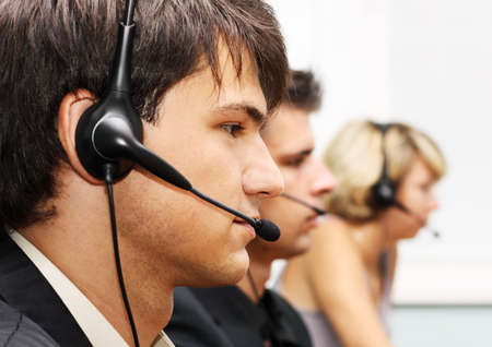 Customer service operators at work photo