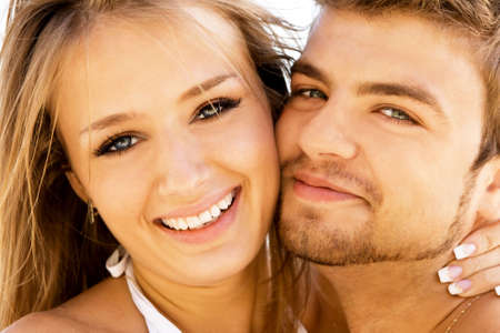 Romantic couple having fun on the seaside Stock Photo - 5482159