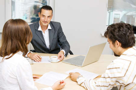 Professional advisor having a discussion with a customer Stock Photo - 5488444