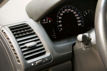 Modern car dashboard closeup