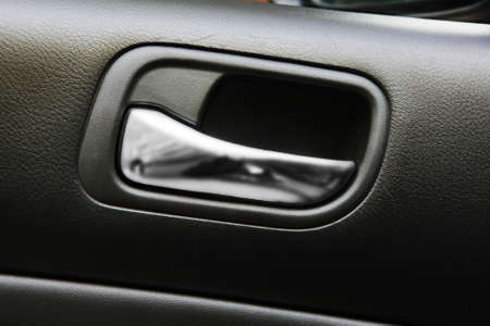 Car door handle closeup view photo