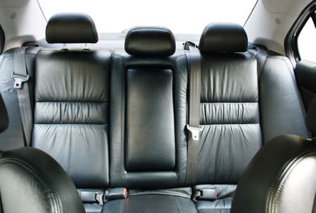 Back passenger seats in a modern car photo
