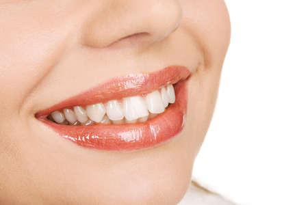 smile close up: Beautiful female lips closeup photo