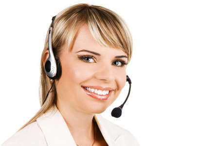 Customer service professional with a friendly smile Stock Photo - 5917469