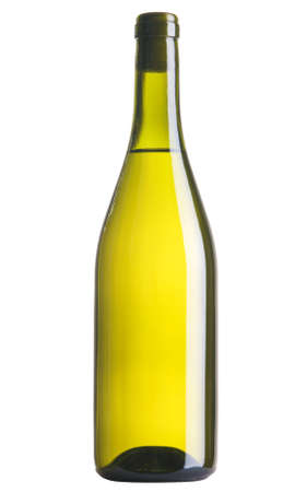 Bottle of white wine, isolated on white background photo