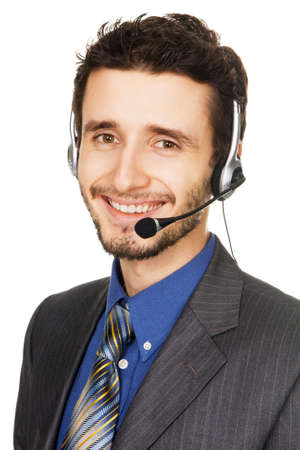 Young handsome customer service operator Stock Photo - 6322209