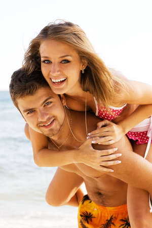 Beautiful young couple in casual clothing Stock Photo - 6445597