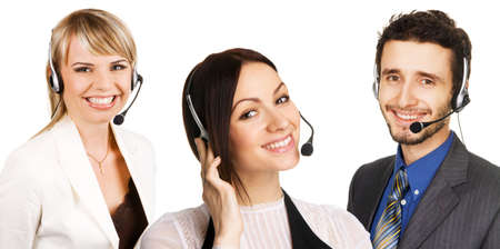 technical service: Customer service professional with a friendly smile