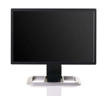 Modern black computer monitor isolated on white background Stock Photo - 6927080