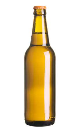 leere flaschen: Beer Flasche isoliert auf wei�em Hintergrund