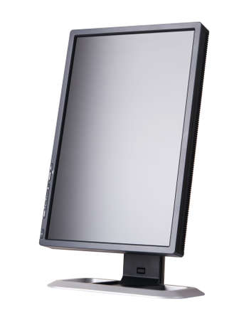 Modern black computer monitor isolated on white background