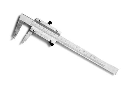 Slide gauge isolated on white background photo