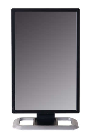 Modern black computer monitor isolated on white background Stock Photo - 7306430