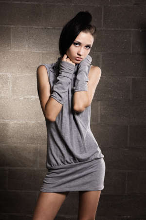 Beautiful slim model studio Stock Photo - 7318376